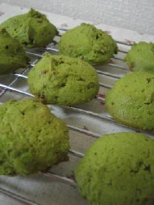 ドロップクッキー☆抹茶&クルミ